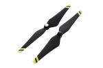 Пропеллеры карбоновые DJI 9443 E300 (черные с желтыми полосами)