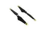 Пропеллеры 12 дюймов DJI E600 12x4.2 (2 штуки) черные (желтые полосы)