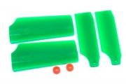 Хвостовые лопасти KBDD Align Trex 450 Pro (зеленый неон)