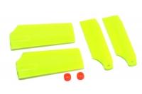 Хвостовые лопасти KBDD Align Trex-450 Pro (жёлтый неон)