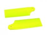 Лопасти хвостового ротора KBDD Blade 130 X желтый неон