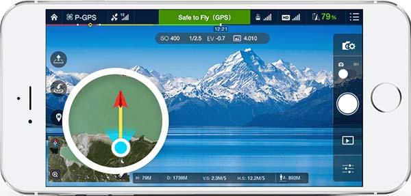Онлайн карта и радар DJI Go